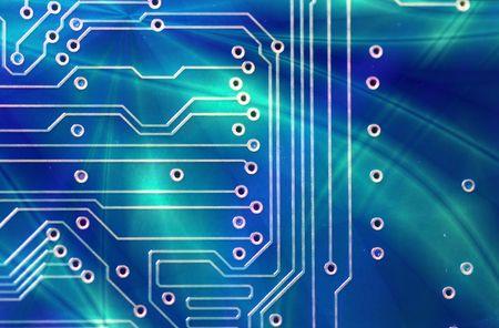 High technology - computer electronics (macro) photo