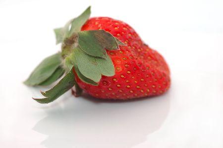 Fresh strawberry isolated on white background  (shallow dof) Stock Photo - 1156534