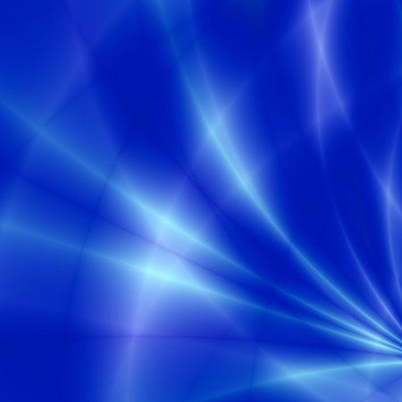 Fantasy rays on blue background photo