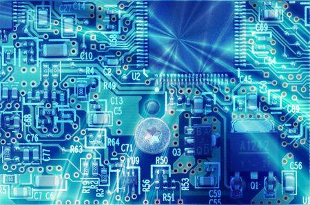 High technology - computer electronics (macro) Stock Photo - 1261705