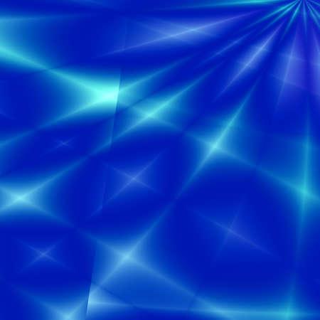 phenomena: Fantasy rays on blue background