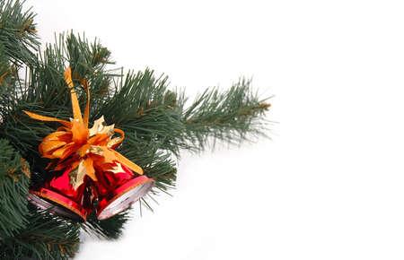 adorning: Christmas decoration isolated on white background