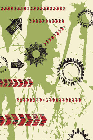 Abstract industrial grunge background Vector