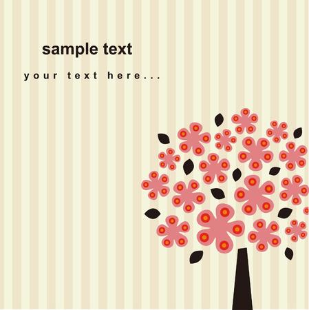 vector tree card Illustration