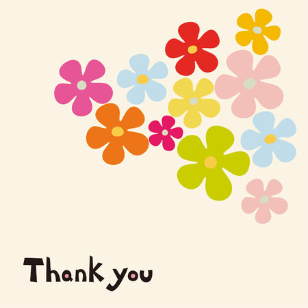 thanks you: flower card design