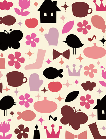 cute elements background design Vector