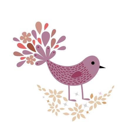 sweet bird wallpaper design Stock Vector - 5119260