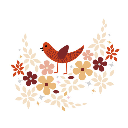sweet bird card design Stock Vector - 5119256