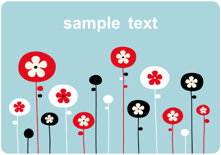 vector floral backgrounds design Stock Vector - 5119230