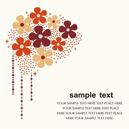 flower card design Stock Vector - 5119269