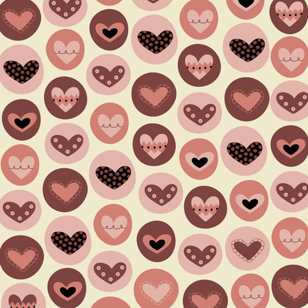 collection hearts background vector Vector