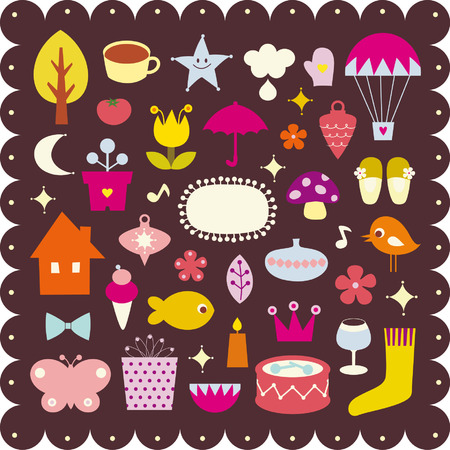 cute elements design Vector