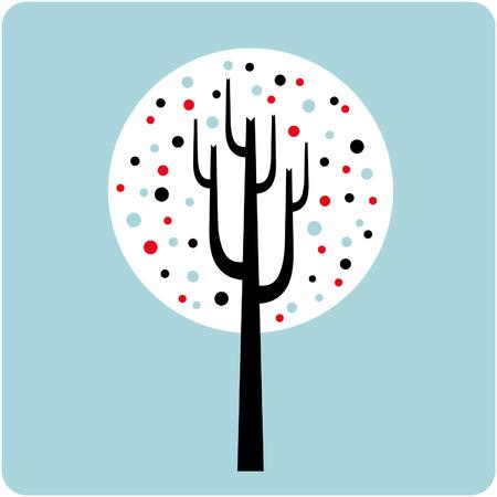 tree wallpaper design Vector