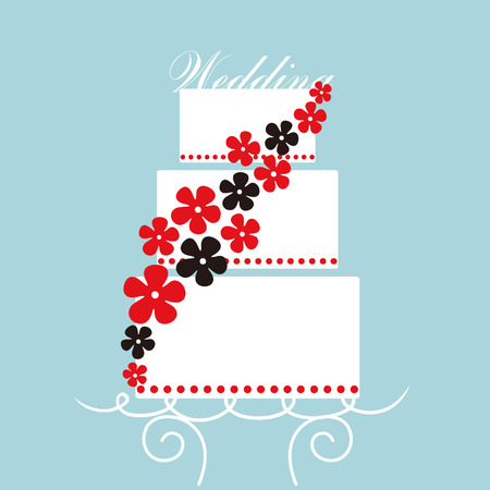 wedding card design Illustration