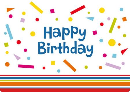 Vector birthday card design Vector
