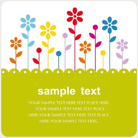 Diseño floral vector de la tarjeta Foto de archivo - 5440841