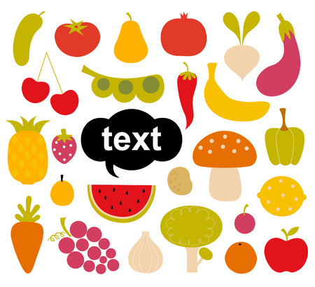 Various Fruits and Vegetables Vector