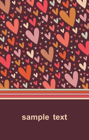 Vector hearts background design Stock Vector - 5440840