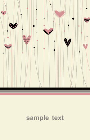 Vector hearts background design Vector