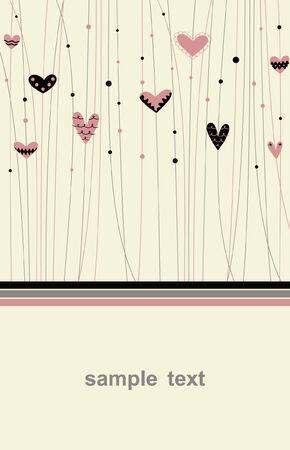 Vector hearts background design Vector
