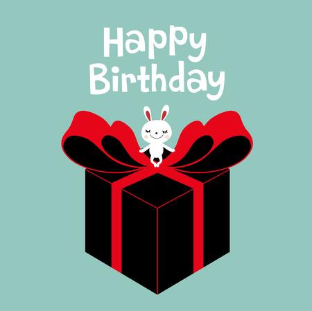 box with rabbit card design Stock Vector - 5440792