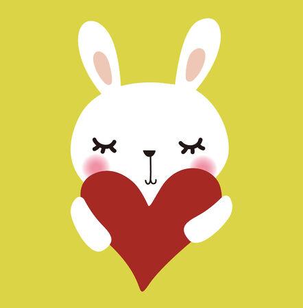 Cute vector rabbit with love Vector