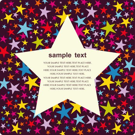 Vector star background design Stock Vector - 5440855