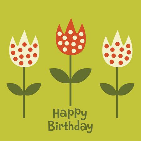 flower card Stock Vector - 5649544