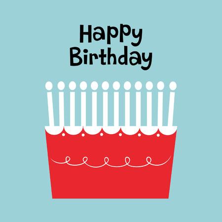 happy birthday text: birthday cake
