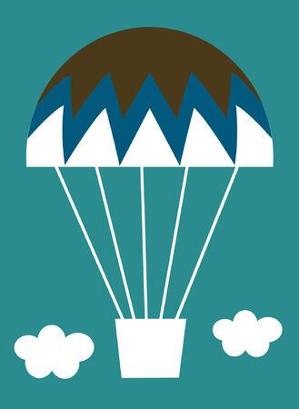 vector Hot-air balloon card Vector