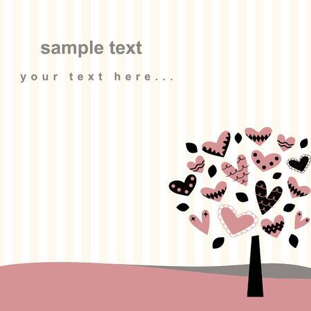 love tree card design Vector