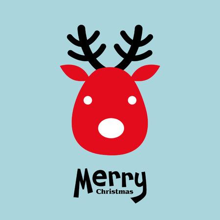 christmas elk: vector elk of christmas card