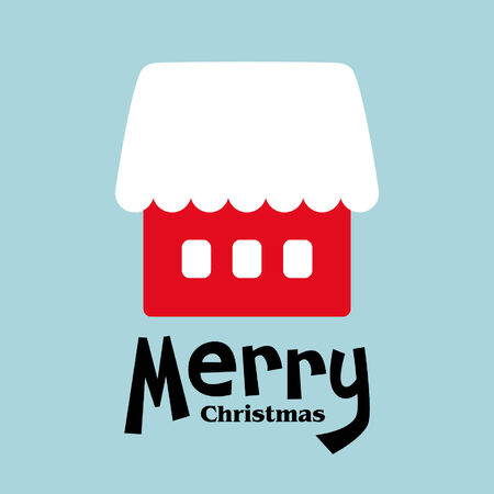 vector house of christmas card