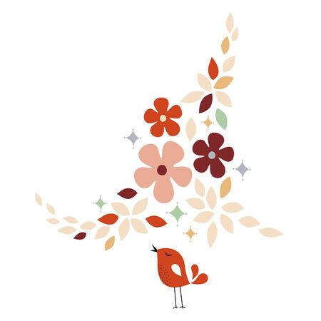 sweet bird card design Stock Vector - 6170205