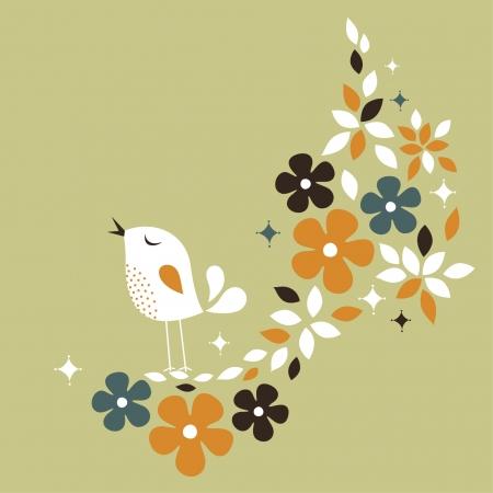 sweet bird card design Stock Vector - 6170199