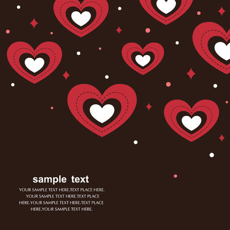 hearts background vector Vector