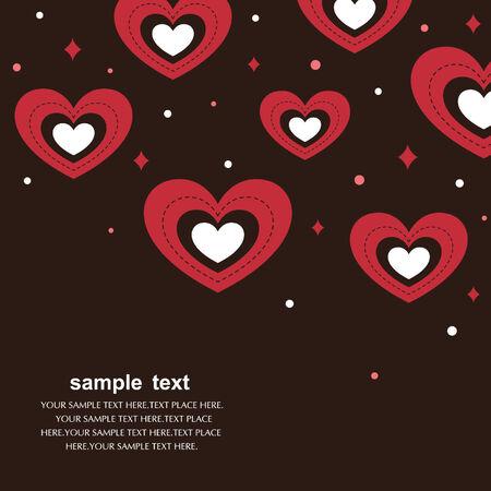 hearts background vector Stock Vector - 6170212