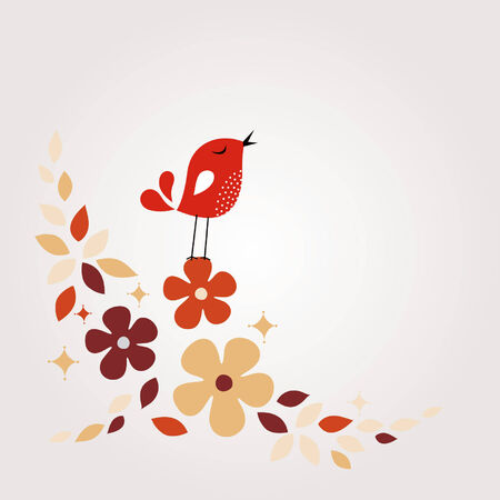 sweet bird card design Stock Vector - 6170208