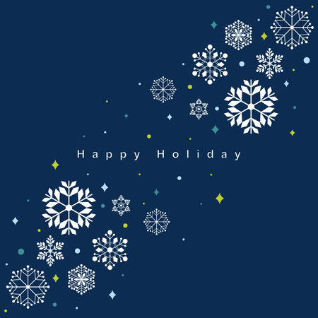 Vector set of snowflakes background Stock Vector - 6170217