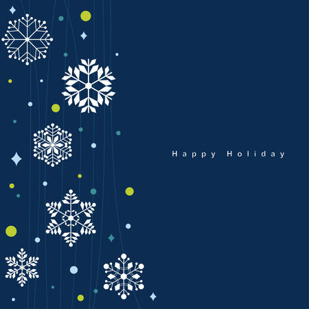 Vector set of snowflakes background Stock Vector - 6170216