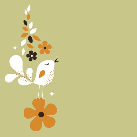 sweet bird card design Stock Vector - 6186501