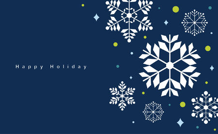 Vector set of snowflakes background Stock Vector - 6186506
