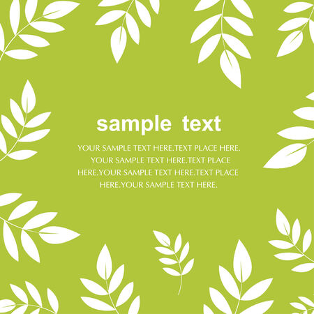 vector leaf background design Stock Vector - 6186515