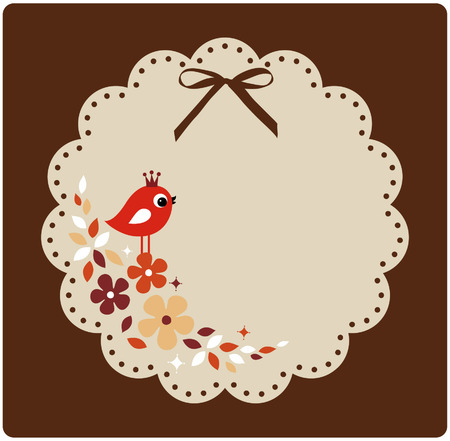 vector birds xmas card Vektorové ilustrace