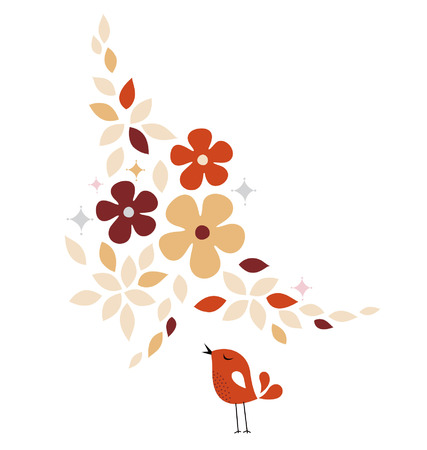 sweet bird card design Stock Vector - 6200511