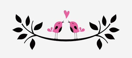 bird love card Stock Vector - 6207611