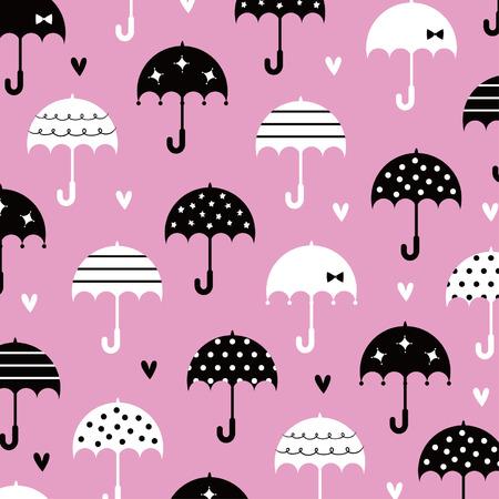 love wallpaper: paraguas con dise�o de papel tapiz de amor Vectores