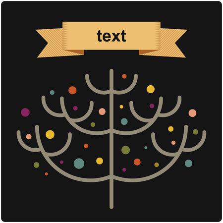 flack: vector tree of christmas background design Illustration