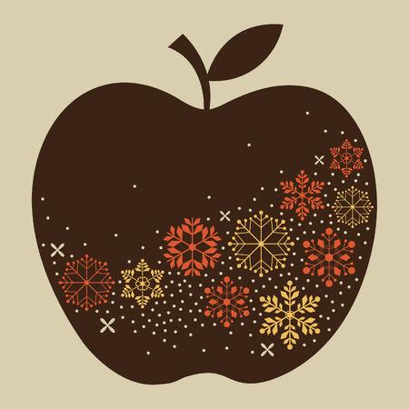 colored paper: apple design Illustration