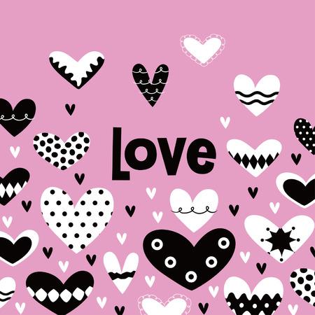 lover: love card design Illustration